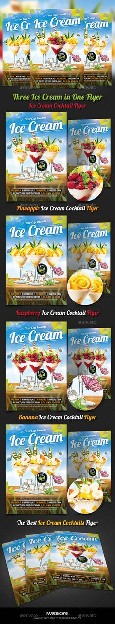 Ice Cream Cocktails Party Flyer Template (CS, 4.25x6.25, beach, beach party, birthday, bottles, cafe, cake, candy, celebration, cocktail, cocktail party, cream freezer, cupcake, drink, drinks flyer, easter, fresh, fun, gift, ice, ice cream, kids, kids party, leaves, spring, Spring Party, strawberry, summer, summer cocktail, summer party, table)