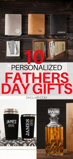 10+ Personalised Gifts For Dad For Father's Day. IF you are stuck looking for the perfect personalised Father's Day gifts for dad, check out this FUN list of CHEAP & UNIQUE Gifts for dad for Father's day!