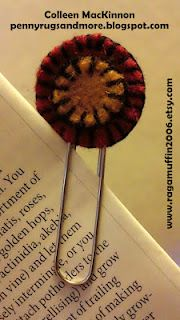 Penny Rug Bookmark tutorial. (I love to stitch little felt circles. I didn't know they even had a name. )