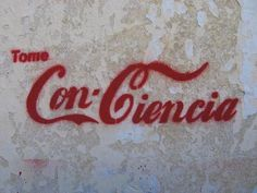 Ideas y Pensamientos Odile Fernandez, Coca Cola, Stencils, Stencil Art, Street Quotes, Street Art Banksy, Flying Together, Bansky, Red Aesthetic