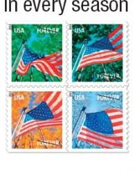 The 2013 Flag For All Seasons Stamps Show Images Of Old Glory Flying Proudly At Times Year And Because Theyre ForeverR You Can Use Them Any