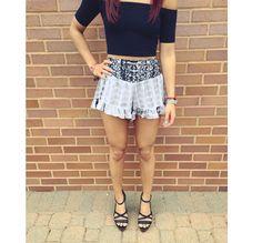 Shorts & American apparel crop top