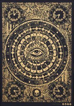 Providence By Fraser Gillespie – spiritualityaestheti Illuminati, Festa Jack Daniels, Cosmic Art, Visualisation, Occult Art, Horror, Witch Aesthetic, Silk Screen Printing, Moon Art