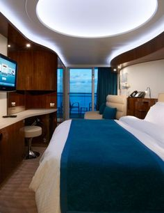 Norwegian Epic cruise ship. This is a balcony stateroom. Cruises from Port Canaveral Florida.