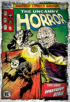 Day of the Future HELLRAISER! Monster Horror Movies, All Horror Movies, Funny Horror, Horror Movie Characters, Scary Movies, Comedy Movies, Horror Films, Marvel Comic Books, Comic Books Art