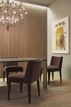 MERIDIANI I KITA dining chair with upholstered legs