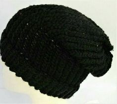 Check out this item in my Etsy shop https://www.etsy.com/uk/listing/528807917/black-slouchy-beanie-recycled-wool