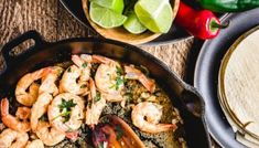 Under 30 minutes shrimp tapas recipe. Only 5 ingredients to make this delicious appetizer or double it and serve with rice for an easy weeknight meal. Shrimp Taco Recipes, Shrimp Appetizers, Tapas Recipes, Shrimp Tacos, Yummy Appetizers, Easy Weeknight Meals, Easy Meals, Spanish Shrimp, Garlic Sauce