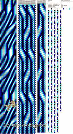 жгут, бисер, вязание крючком, схема для жгута, синий, голубой, небо