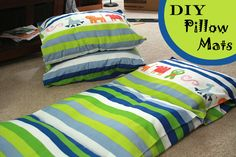 Runs With Spatulas: Crafty Fridays: DIY Pillow Mats. She has more instructions. She also used Ikea duvet cover and pillows. She claims she could make two pillow mats for 19-20 dollars.