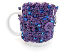 Crochet Mug Cozy by sewstacy on Etsy, $14.50
