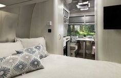 Airstream Bambi 16RB interior Airstream Trailers For Sale, Airstream Bambi, Airstream Interior, Vintage Airstream, Vintage Travel Trailers, Lightweight Camping Trailers, Small Camping Trailer, Small Trailer, Small Campers