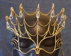 Brons & Crystal prinses masker van BronzeSmith op Etsy