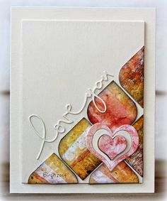 love you card by Birgit
