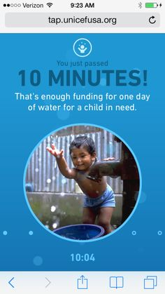 One more excuse to unplug: UNICEF Tap Project app pays for clean water for children for every 10 minutes you don't use it.