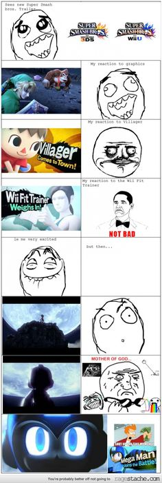 My Super Smash Brothers Wii U/3DS Reaction... Admit it, you all acted the same way.