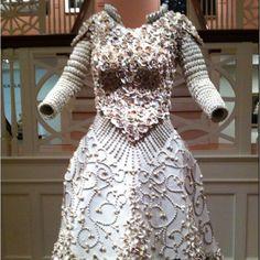 Seashell dress from Art Museum in Salem, MA
