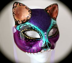 Day of the Dead Sugar Skull Antiqued Cat by SugarShoppeofHorrors, $70.00