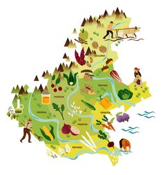 Food of the Land - Map of Veneto by Michele Bruttomesso
