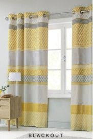 Mini Geo Stripe Curtains