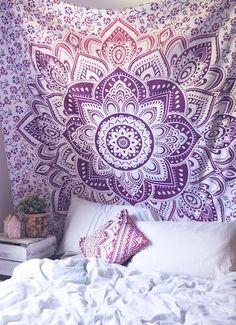 scattered flower tapestry