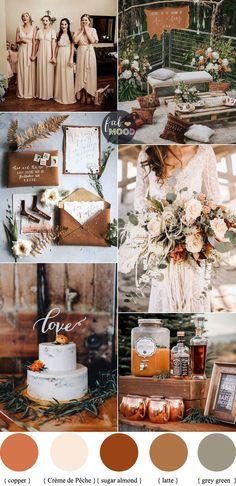 Earth Tones Wedding Color Palette With Copper Accents For Au.- Earth Tones Wedding Color Palette With Copper Accents For Autumn Wedding 1 – Fab Mood Neutral Wedding Colors, Winter Wedding Colors, Wedding Color Schemes, Wedding Colour Palettes, Colour Schemes, Winter Themed Wedding, Autumn Wedding Ideas, Earth Tone Wedding, Earth Tones