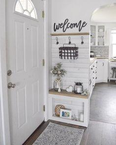 40 best small entryway decor & design ideas to upgrade space 40 - Eingang Flur Design, Small Entryways, Entry Way Design, Foyer Decorating, Decorating Ideas, Small House Decorating, Decorating Bathrooms, Decorating Kitchen, Interior Decorating
