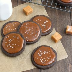 Salty Chocolate Caramel Butter Cookies by Tracey's Culinary Adventures, via Flickr