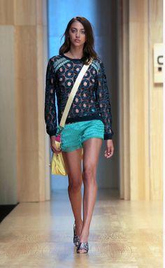 Custo Barcelona 080. Beautiful combination, I love turquoise shorts!