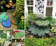 Concrete Leaf Water Feature