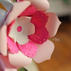 #paperflower #work #scanncut #designedwithlove #artilexed #handcrafted Flower Designs, Paper Flowers, Flower Line Drawings