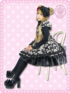Chocola Rose Princess Decorated Bustle One-Piece