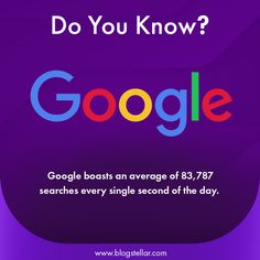 Google boasts an average of 83787 Searches Every Single Second Of the day. #google #jio #googleinvest #india #dunzo #whareismytrain #hallilabs #aye #cardekho #cuemath #freshworks #practo #cryptocurrency #money #entrepreneur #forextrader #investment #business #invest #forexlifestyle #investing #investor #stocks #success #wealth #ethereum #millionaire Cryptocurrency, Did You Know, Wealth, Entrepreneur, Investing, It Works, Success, Internet, India