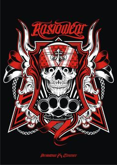 Commission for Rasiowear Clothing. C&C (cacian & cemohan) allowed Street Bones Love Wrist Tattoo, Placement Tattoo, Poker Tattoo, Harley Davidson Posters, Crane, Angels Logo, Warriors Shirt, Font Art, Cool Masks