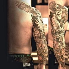 Les meilleurs emplacements pour avoir un tatouage ange encré, à n'en pas douter, sont le torse, le dos et l'avant-bras. Ça donne presque l'impression d'avoir une photographie sur le corps!