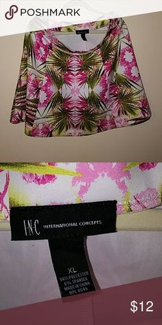 INC Flower A-line skirt Very pretty aline skirt worn once only. In excellent condition. INC International Concepts Skirts A-Line or Full
