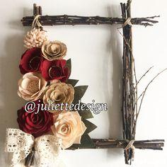 Ramoscello e feltro cornice cornice fiore feltro ramoscello