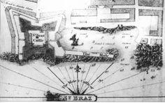 Séc. XIX, Planta do Castelo de S. Brás e Cais do Corpo Santo, Cidade de Ponta Delgada, Ilha de São Miguel.   Planta do Castelo de S. Brás e Cais do Corpo Santo