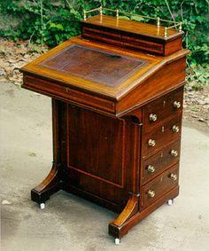 Superb Value Of Antique Furniture   Antique English Furniture Mahogany Davenport  Desk