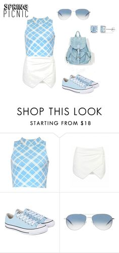 """Simple Picnic Look"" by yellow3gold ❤ liked on Polyvore featuring Motel, Converse, Oliver Peoples and Ice"