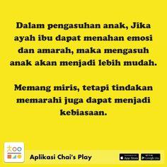 Satu sehari, tips permainan & pengasuhan anak, hanya di Chai's Play Family Quotes, Life Quotes, Islamic Quotes, Kids And Parenting, Parents, Knowledge, Education, Children, Tips