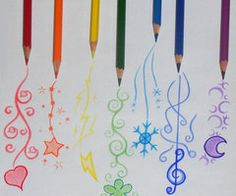 I'm doing a lot of drawings with coloring pencils. This is cute. ♪