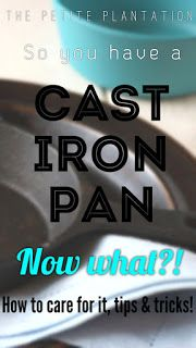 The Petite Plantation: Caring for Cast Iron