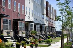 Spring Creek Nehemiah is an affordable housing success story in East New York Modular Housing, Modular Homes, Building Exterior, Building A House, Low Income Apartments, New Home Construction, Living Environment, Two Story Homes, Affordable Housing