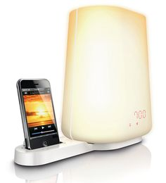 Wake-up Light; gradually brightens your space, while your pre-selected audio gently increases in volume.