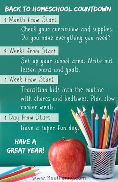 This might be the cure for my procrastination. I want this year to be the most awesome homeschool year EVER.