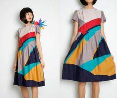 geometric pattern dress by imelda Textiles, Pretty Outfits, Cute Outfits, Katharine Hepburn, Estilo Fashion, Fashion Fabric, Dress Fashion, Mode Inspiration, Mode Style