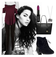 """""""Untitled #122"""" by meghan01c ❤ liked on Polyvore featuring Clarks, Boohoo, MICHAEL Michael Kors and Accessorize"""