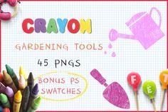Download Crayon Gardening Tools @creativework247