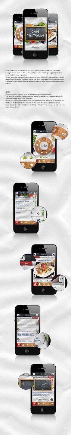 Chef Microwave - Whirlpool App by Santi Urso, via Behance